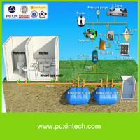Portable anaerobic biogas digester