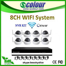 security system product 8ch Camera With 1.3mp Full Hd 10x Optical Focus 256 Presets h.264 wifi nvr kit