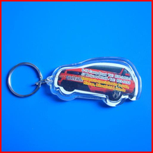 Sports car shape car acrylic keyring