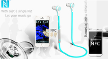 Concise High end Package Popular Bluetooth Earphone USB charger In line control NFC paring Neckband Portable pouch