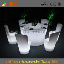 dining table and chair,restaurant dinning table and chair,LED restaurant furniture