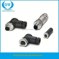 M8 M12 Male female cable Solder Assembly type 3 4 5 8 12 pin connector ip67 ip68 waterproof connector