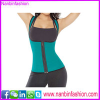 2015New arrival zippper blue perfect body shaper for women