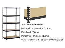 5 layer light duty iron warehouse slotted angle rack