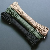 2015 New MultiColor 4mm Paracord Wholesale 550 Parachute Cord Lanyard Rope Climbing Camping Rope 7 Strand 100 FT