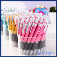 Free sample colorful simple style promotional gifts cheap custom pens stationery cute plastic ballpoint pen