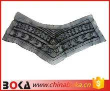 New arrival latest design korean style beaded v-shape collar neck design