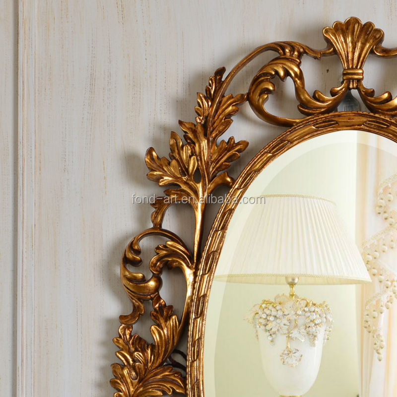 pu129 antique living room furniture decorative wall mirror