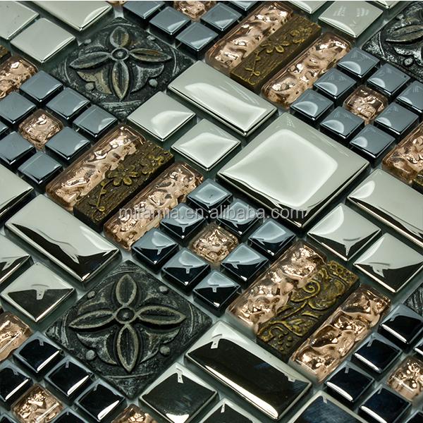 Complex ontwerp hars glasmozaïek nieuwe keuken tegels mozaïeken ...