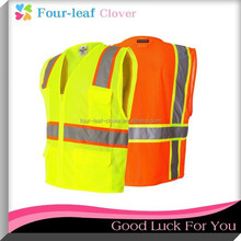 OEM/ODM YELLOW/RED SILVER REFLECTIVE SAFETY VEST