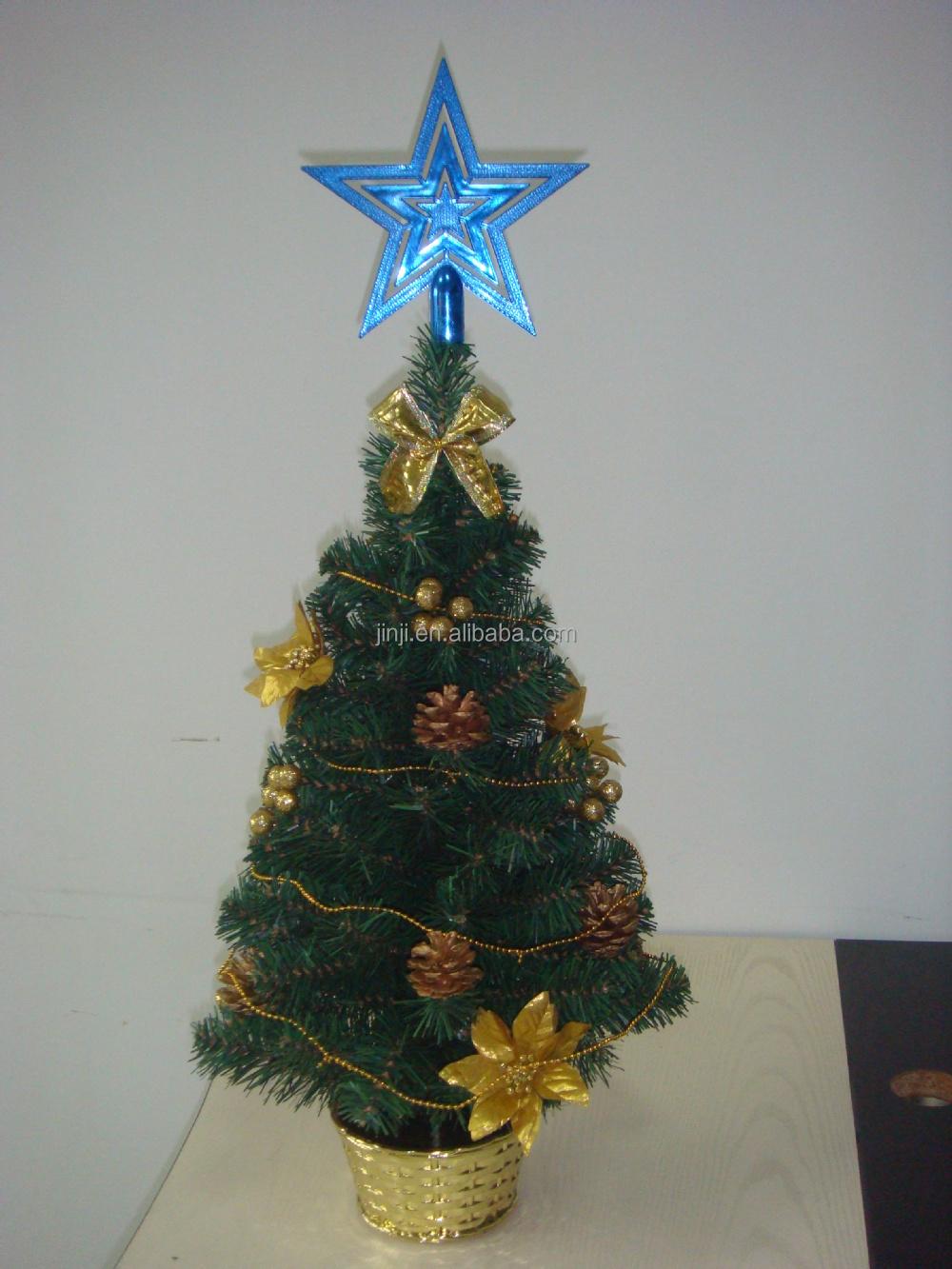 Mini pvc artificielle bureau arbre de no l avec boule toiles cravate arc d coration - Etoile de noel artificielle ...