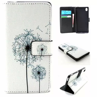 Mobile Phone Color Printing Wallet PU Leather Case Cover For Sony Xperia M4 Aqua