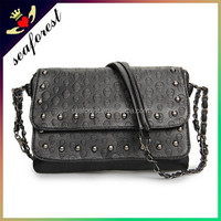 skull design europe hotsale style fashion leather single shoulder bags handbags for women