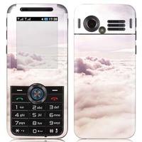 White Cloud Vinyl Decal Screen Protector For LG Series, for GX200 sticker.