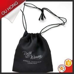 Hot Small Black Darwstring Foldable Recycle Nylon Bag