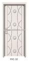 Eco- amigável livre interior pintura mdf da porta do pvc( pvc- 32)