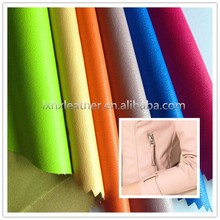 Elastic lichi pu leather material,garment leather,pu leather for garment DG503