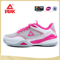 PEAK Top Sale Fast Movement China Brand Pink Female Tennis Shoes