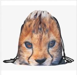 heavy duty polyester foldable print gift custom drawstring drawstring gym bag