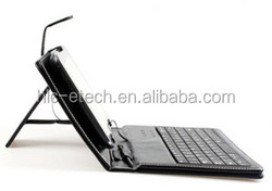 Universal Micro USB Port Leather Case with Keyboard for 9.7 Inch Tablet PC