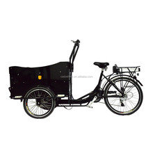 CE Holland bakfiets 3 wheel electric motorized cargo trike for family 2015