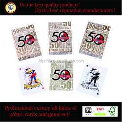 Playing card deck, high quality custom printed deck of cards