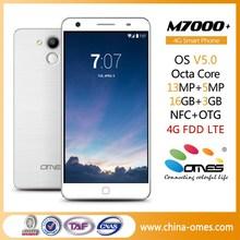 "2015 Best Model OEM M7000+ 5.5"" Android 5.0 Lollipop 3GB Ram octa core 4g unlocked smart phone"