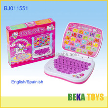kid toy educational toy computer/learning machine plastic laptop