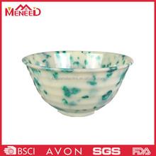 Hot beautiful new design plastic melamine salad vegetable bowl