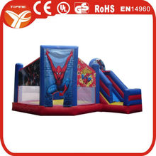 2015 inflatable spiderman bounce slide