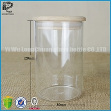 wholesale glass wedding souvenirs bottle for candy/wishing star with wood cap