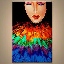 el más nuevo hecho a mano de pintura al óleo imágenes de chica para decoración
