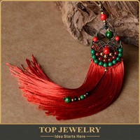 Wholesale new fashion jewellery in karachi of tassel style design for women l'oreal social audit factory TOPER-00289