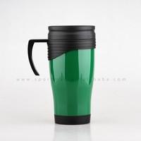Double Wall Plastic Travel Mug/Auto Mug with handle and lid