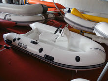 3M fiberglass hull rib boat with CE rigid hull inflatable boat with outboard motor fishing boat