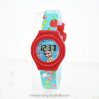cheap printing plastic colorful watches