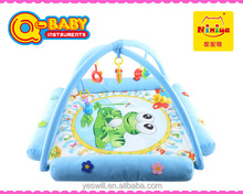 Q-KIDS Plush baby sleeping mats,electronic musical baby crawl play mat with sides
