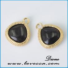Brass glass pendant rectangle bail pendants