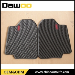 wholesale 4 pcs rubber anti slip pvc car mat