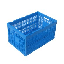 hot sale 63L heavy duty mesh style plastic stackable crates for fruits and vegetable packaging without lid