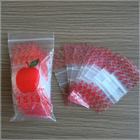 Small Reclosable Zip Lock Mini Apple Bag