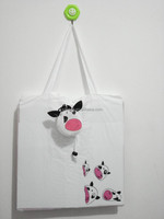 190D polyester strawberry shopping bag
