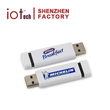 Business Items Slim Plain White Paypal Acceptable USB Disk Flash Drive with High Capacity 32GB
