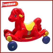 Kids ride on cheap plastic toy horses