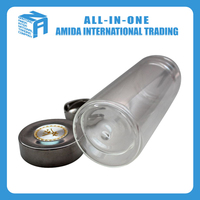 Cheap custom promotional insulating glass with lid