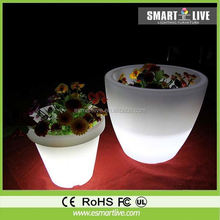 Alibaba wholesale home/garden/party/wedding decoration waterproof high tech flower vase/led flower pot