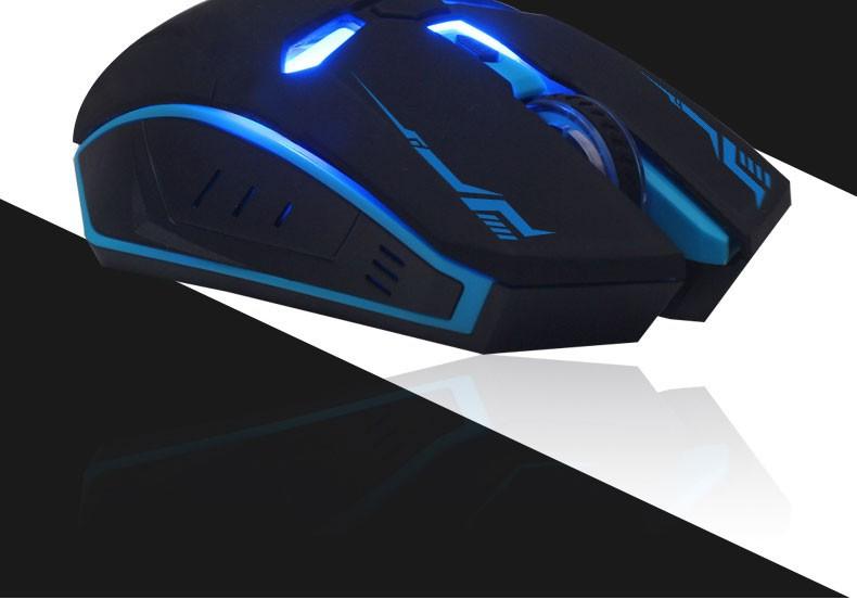 4Colors 10M 2.4 GHz USB אופטי עם תאורה אחורית משחקים עכבר אלחוטי עבור מחשב PC נייד עם משלוח חינם חבילה הקמעונאי