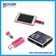 NEW! smart phone double connecter usb flash drive, OTG function and with external memory,