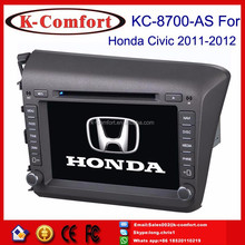 K-comfort Factory supply car navigation system for honda civic 2012 with SWC GPS + Radio + RDS BT+ SD + USB CD/DVD IPOD Aux-in