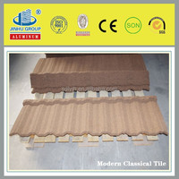 Stone Coated Metal Roofing Tile/Modern classcial In Brown Color manufacture
